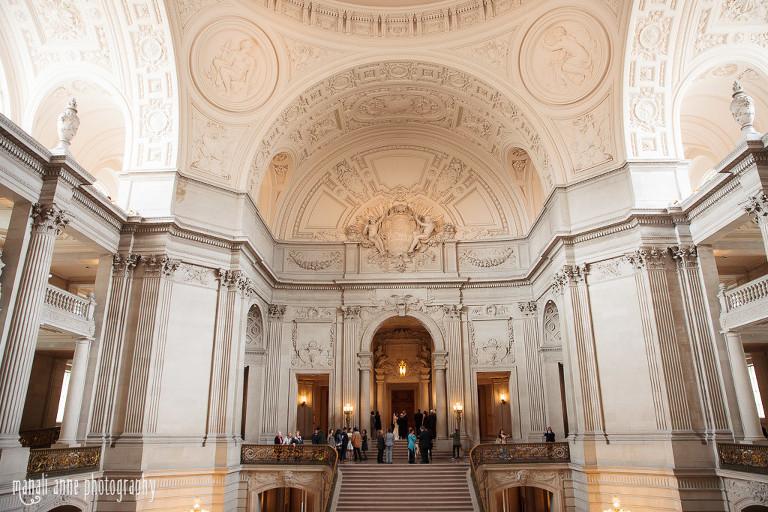 Mayor S Balcony Wedding San Francisco City Hall Eva