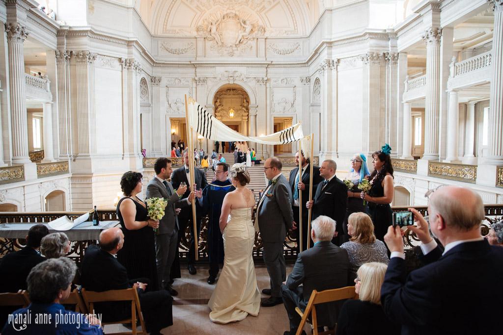 Mayors Balcony Wedding San Francisco City Hall Eva Scott Manali Anne Photography