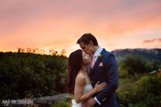 Petroni Vineyards Wedding Photos Sunset Vineyard