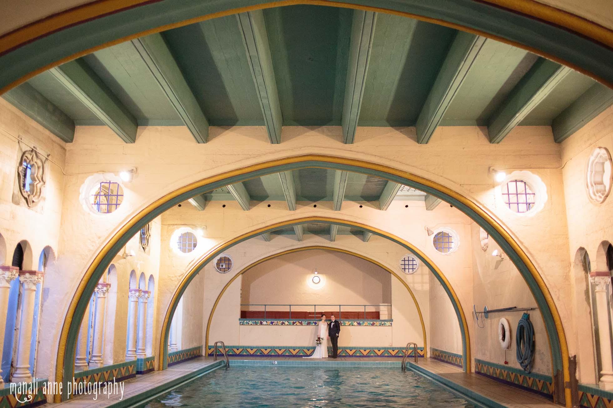Berkeley City Club Wedding pool photo