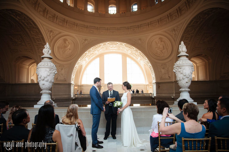 San Francisco City Hall Wedding North 4th Floor Private Ceremony Photo