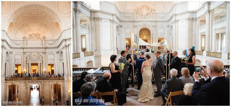 Mayor S Balcony Private Wedding San Francisco City Hall