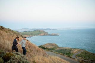 marin headlands hike engagement session photos san francisco wedding photographer