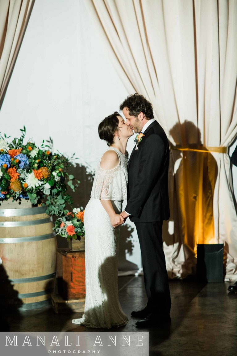 Dogpatch Wineworks San Francisco Wedding,wedding ceremony,