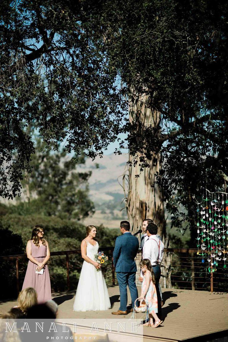 Tiber Canyon Ranch Wedding ceremony San Luis Obispo