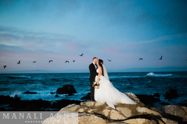 17 Mile Drive Wedding, Hole 14, Monterey Peninsula Country Club, Pebble Beach Beach