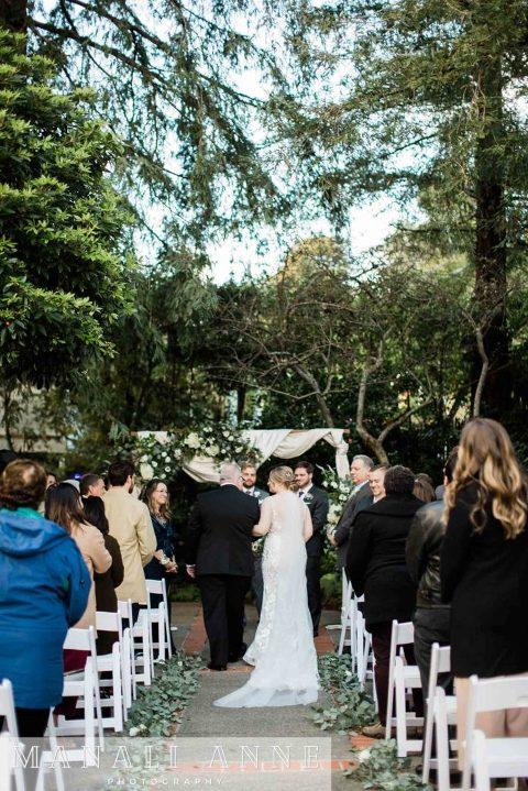 Outdoor Art Club Wedding ceremony