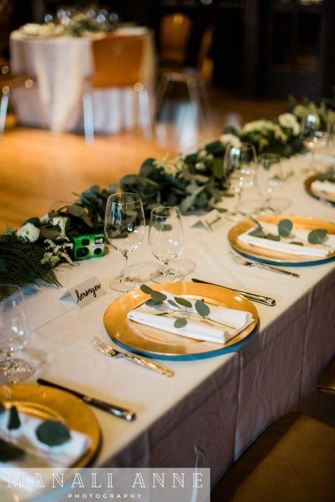 Outdoor Art Club Wedding reception