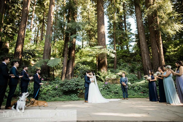 Nestldown Wedding Ceremony, Los Gatos, Santa Cruz
