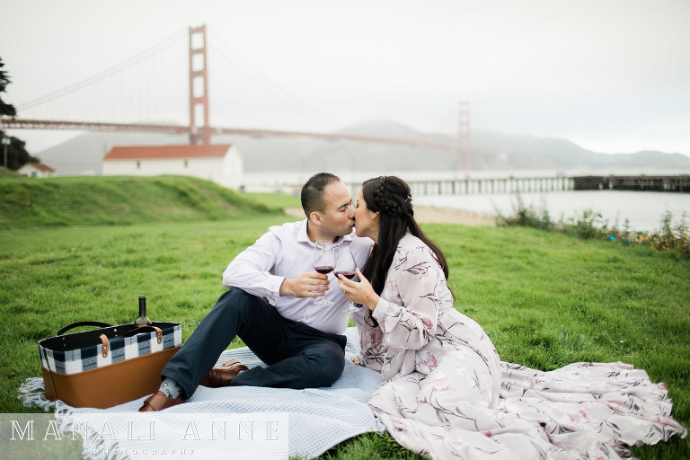 Crissy Field, San Francisco Engagement Session, Golden Gate Bridge Engagement Session