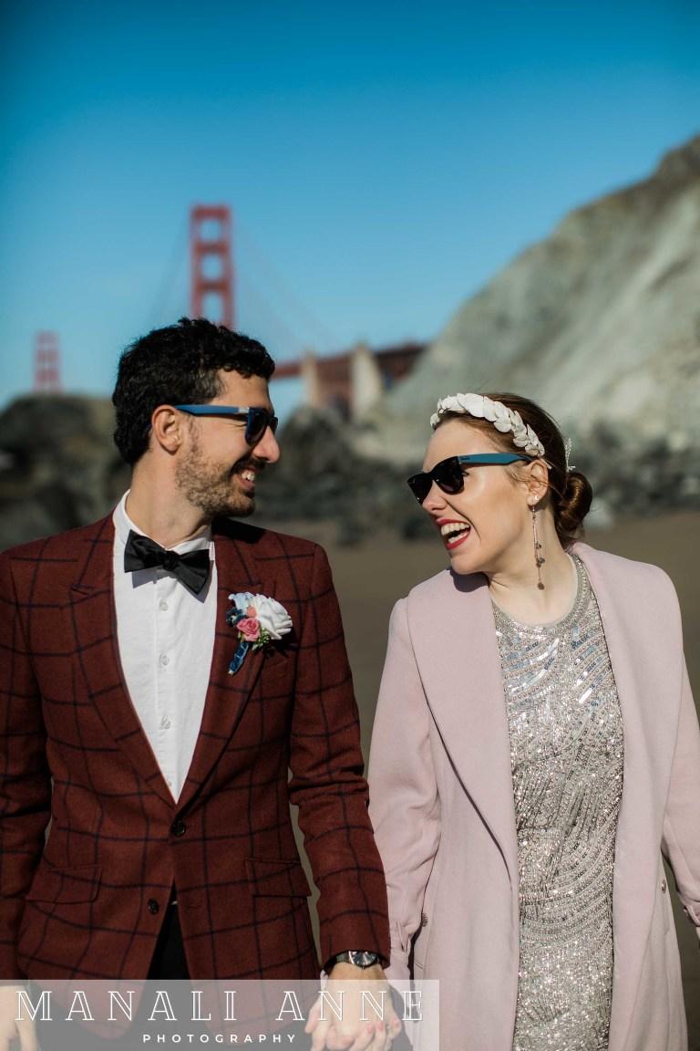 San Francisco Marshall's Beach Wedding Engagement Photos