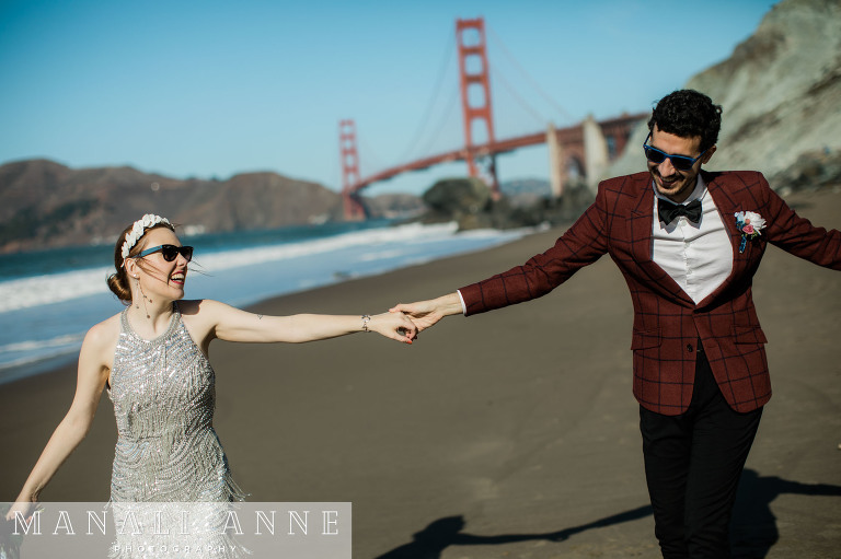 San Francisco Marshall's Beach Wedding Engagement Photos